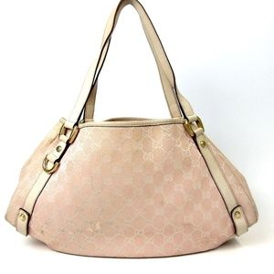 Auth GUCCI GG Canvas Tote Bag 217GTO104